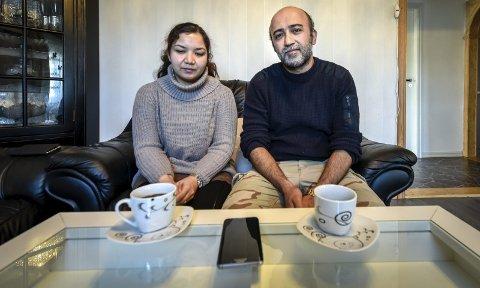 Familiefaren Hussein Mahmoudi (40) får prøvd saken sin i Oslo tingrett, der han nå er sammen med Fatima Jaghori (31). – Det kjennes kjempegreit ut å være i gang,  sier hun.  Foto: Øyvind Bratt