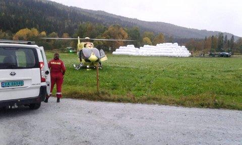 Ambulansehelikopter på Nevernes