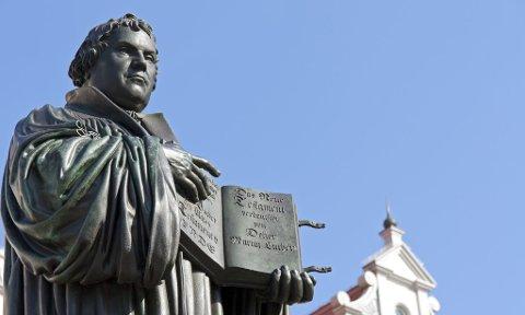 Statue av Martin Luther.