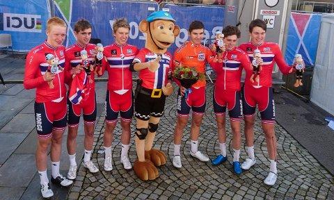 Det gikk ikke som de norske juniorene hadde håpet på fellesstarten under VM i Bergen. Men til gjengjeld fikk de beviset på at de har vært det beste laget i Junior Nations Cup gjennom sesongen.
