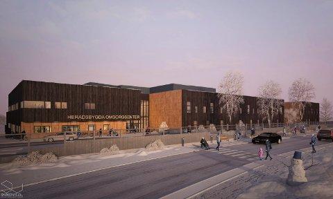 NYTT OMSORGSSENTER: Skisse av nye Heradsbygda omsorgssenter.