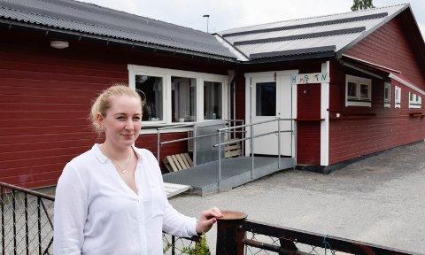 KJEMPEFLOTT: - Kjempeflott å kunne ha barnebursdag i barnehagen, synes Cathrine Aldersjøen.