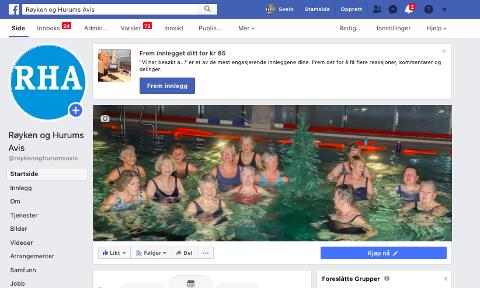 ØKER: Stadig flere følger RHA på Facebook. I skrivende stund er tallet 8 197.
