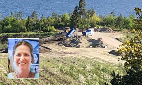 FORNØYD: Merete Hyggen (innfelt) er fornøyd med at kommunen har opphevet stoppordren, men sier hun har lidd økonomiske tap som følge av den.