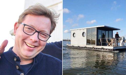 FLYTENDE LUKSUS: Snart kan du bade fra «hotellrommet» i Holmsbu.