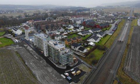 Reiser seg: Hele sentrumsbildet endre seg med blokkene som nå reiser seg i Bergbakken.