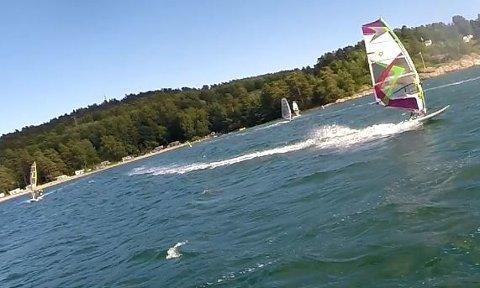 Surfing på Langeby 2