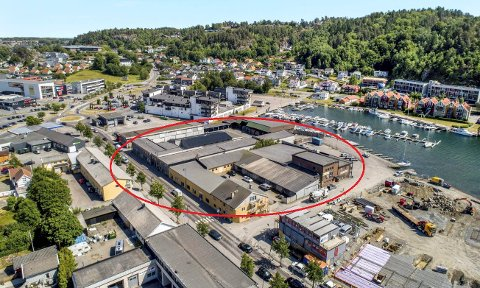 SALG I HURTIGTOGSFART: Da den første delen av kvartalet i Kilgata var solgt, ble det fart i prosessen for de to andre. Arealet er på 8,4 dekar, og skal utvikles til boligbygging. (Illustrasjon: Q4 Næringsmegling)