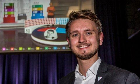 YNGST PÅ TINGET: Freddy Øvstegård er yngst på Stortinget.