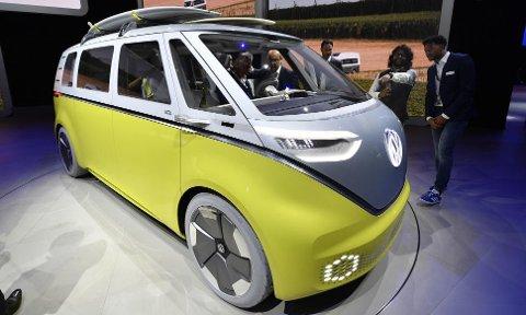 """VW har en rekke nye elbiler på gang, en av dem er en helt ny versjon av den klassiske """"Hippiebussen""""."""