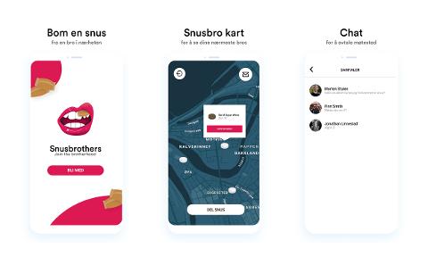 TILGJENGELIG: Snusbrothers-appen er tilgjengelig på Google Play, men ifølge utviklerne er den ikke tilgjengelig på App Store. Dette fordi Apple ikke tillater tobakk-reklame.