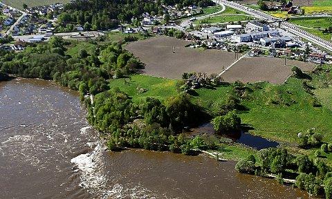 DOMBERG: Dette er Domberg på Årum der en utbygger ønsker å gjøre om 92 dekar med dyrket mark og beite til næringsområde.
