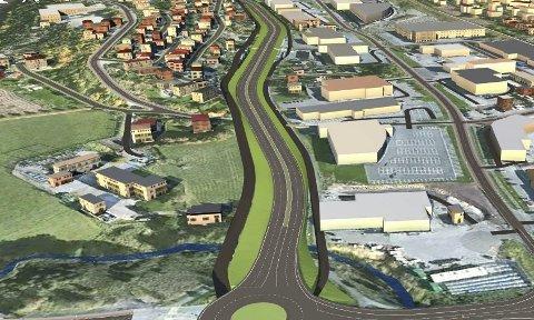 UT AV DØDVANNET? Planleggingen av ny Rolvsøyvei fra Råbekken til Rolvsøysund er satt på vent i påvente av finansiering. Nå håper ordførerne på et gjennombrudd i møtet med statsekretæren onsdag. (Illustrasjon: Statens vegvesen/Multiconsult)