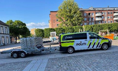 STENGER AV: Politiet vil gjøre sitt for å ivareta sikkerheten under demonstrasjonen lørdag ettermiddag.