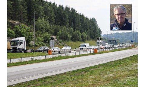 SVENSK MOBILNETT: Dekningsdirektør i Telenor, Bjørn Amundsen, har et tips til folk i kø som sliter med dekningen når de står i kø på E6.