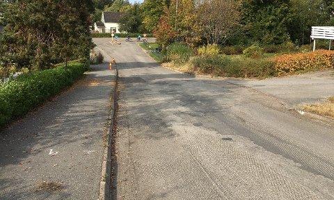 Bassengveien i Askim får 500 meter med ny asfalt.