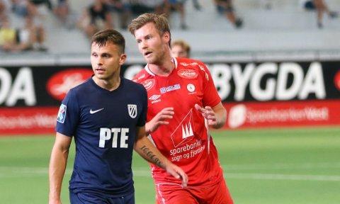 SCORA PÅ OVERTID: Ulrik Flo scora 3-2 målet på overtid då Fjøra vann 4-2 mot Brann 2 onsdag kveld.