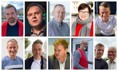 DEBATT: Alle dei ni i panelet har framleis sjansen til å koma inn på Stortinget, men ingen av dei er sikre. Debatten blir leia av Arve Uglum og Knut Henning Grepstad.