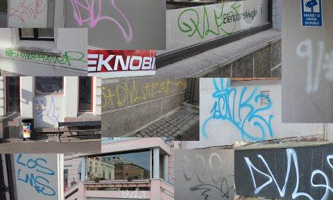 Tagging: Det er spesielt bygårdene det går ut over i Skien sentrum.foto: Per B. Johansen