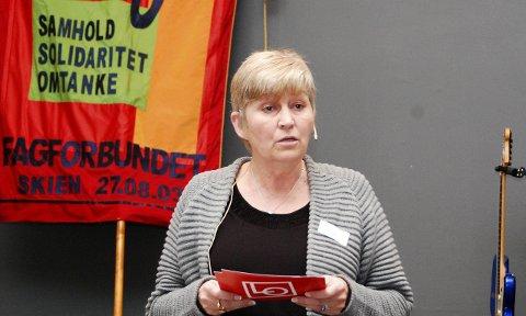 Lo-lederen åpnet: Lederen i Landsorganisasjonen (LO), Gerd Kristiansen, åpnet verdensarvkonferansen. Hun var ikke redd for å si i klartekst hva hun mente.