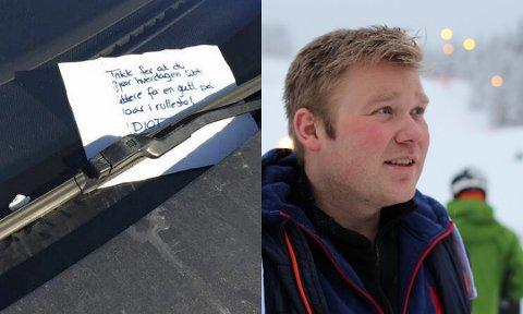 IKKE MENINGEN: Daglig leder i Kongsberg Skisenter, Halvor Jamtveit, forteller at de ønsket å gjøre folk oppmerksomme på at HC-parkeringsplassene er der av en gunn. Ikke å henge ut Tesla-eiere. Foto: Picasa