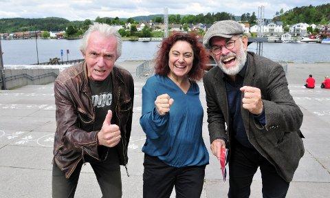 PÅ'N IGJEN: Trond Hannemyr, Anette Röde Hagnell og Hans Petter Eliassen har lagt ut nær 4500 billetter for salg, men PIT har et årlig besøk på 25 000 – 30 000, hovedsakelig via gateprogrammet.