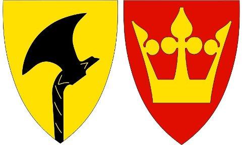 Både Telemark og Vestfolds fylkesvåpen skal byttes ut.