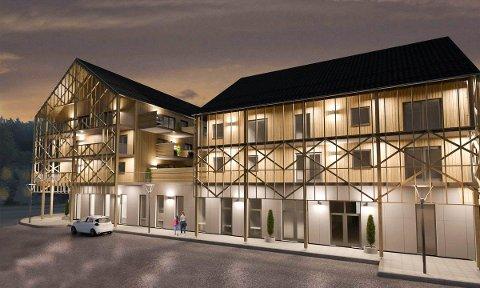 BALKONGER: Alle leilighetene på Stasjonsgården får store balkonger, og det blir en svalgangsløsning mot Stasjonsvegen.