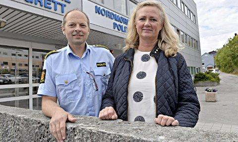 I RUTE: Omorganiseringen av politiet er i rute. – Vi er langt på vei ferdig med fase en, sier Kjell Arne Hustad som sammen med Marianne Frøland leder arbeidet med å bygge et felles politidistrikt for hele fylket.