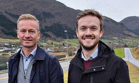 Helge Orten (til venstre) og Vetle Wang Soleim topper lista etter at Høyre-medlemmene i Møre og Romsdal har sagt sin mening.