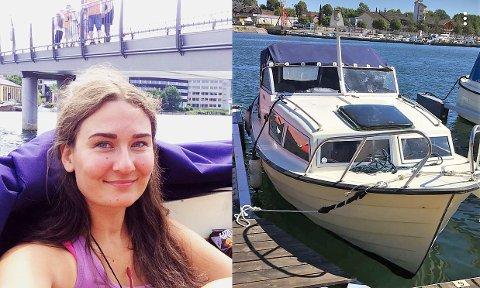 BÅTEN FORSVANT: Kristine Moes Sjømann 22 ble stjålet fra Kaldnes båtforennig i helgen.