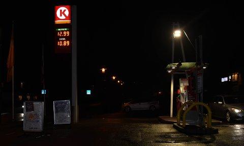 BENSIN ELLER DIESEL: Dette var drivstoffprisene til Circle K på Eik mandag kveld. (Trykk på piltastene for å bla til neste bilde).