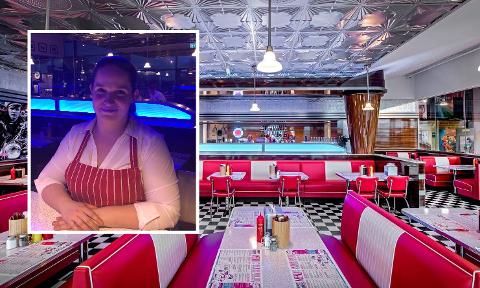 EGEN TWIST: Restaurantsjef ved Groovy Diner, Christiane Bang, er storfornøyd med tilbudet de har i vinterferien.