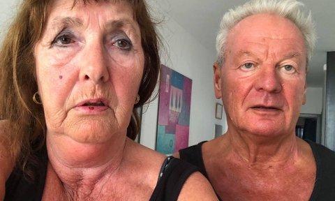 KORONA-FAST: Ekteparet Angela og Jan Nygaard fra Sem prøver å komme seg hjem fra Lanzarote, men foreløpig klarer de ikke å få kontakt med Norwegian.