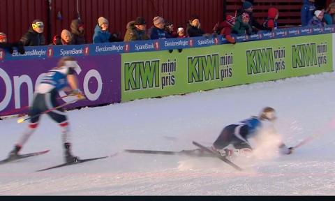 Fall: Mari Eide tryner på oppløpet, og mister sjansen til å kvalifisere seg for NM-finalen i sprint fredag ettermiddag.