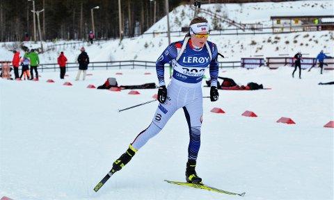 I FORM: Harald Øygard presterte sesongbeste da han gikk til topps i lørdagens norgescuprenn i skiskyting på Fet.