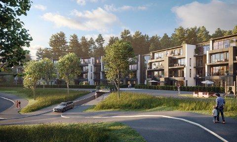 FIKK EN GOD START: Leilighetsprosjektet, som består av 56 vestvendte leiligheter, fikk en god salgsstart.