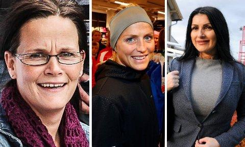 Kjersti Hagen Grønmyr (t.v), Therese Johaug og Lindita Salihu er blant dem som befinner seg på topp ti-listen for kvinnene i regionen.