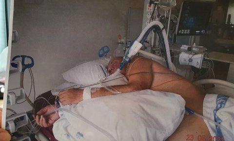 Legene ville ikke si noe om hvorvidt Lothar Maruhn kom til å overleve eller ikke da ting sto på som verst, Nå er han på opptrening på Helsesportsenteret i Valnesfjord.