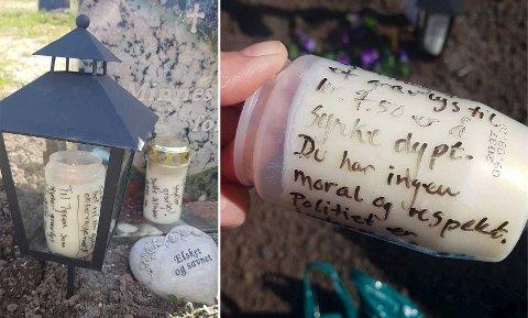 Det ble et mindre hyggelig innslag på morens grav, men Siw Nina Myhre følte hun måtte gi klar beskjed.
