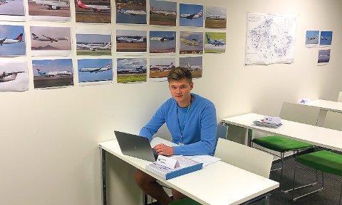 NÅLØYE: Christian Skøien var en av 20 som kom inn på flygerlederutdanning.