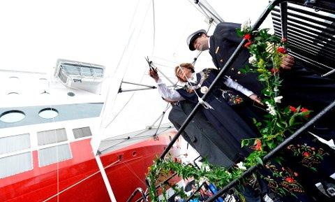 Fjord Lines andre nye cruiseferje, MS «Bergensfjord», ble torsdag døpt av ordfører Trude H. Drevland i Bergen.