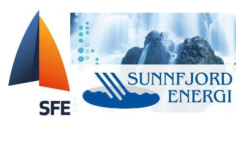 Logoane for dei to kraftselskapa i fylket, SFE og Sunnfjord Energi.