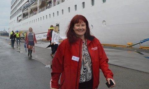 OPTIMIST: Til tross for at årets eneste cruiseanløp er avlyst, er reiselivssjef Maya Nielsen fortsatt optimist. Neste år er det ventet seks cruiseskip til Fredrikstad.