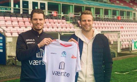 Joacim Heier og Olav Øby. FFK vil presentere spilleren senere mandag.