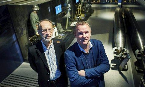 Sjefsprodusent Aage Aaberge og Tom Vidar Karlsen.