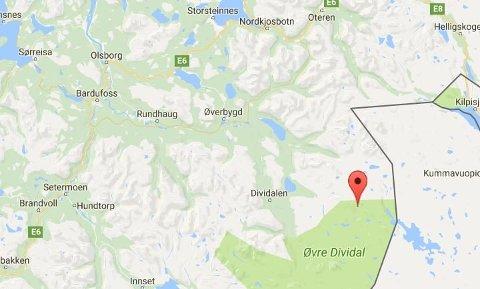 LETEAKSJON: Den savnede, en mann i 20-årene, la ut på tur fra Rostad i Målselv kommune mandag. De siste dagene har ingen hørt fra ham. Det vil i første omgang bli lett etter mannen fra Dividalen og sørover.