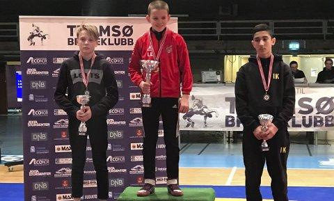 LOV TIL Å VÆRE SKUFFET: Noah Normann  (t v) tapte NM-finalen i G 15 bryting og fikk 2.plass. Nå skal Normann ta nye steg.