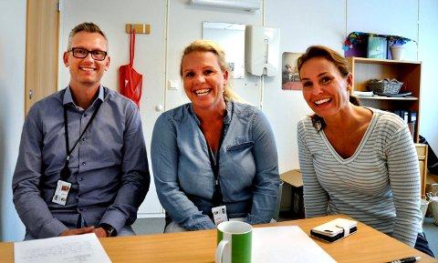 HOPP: Tommy Strøm Skjørberg, Linda Jakobsen, Katrhine Inderaak får mange henvendelser fra andre kommuner som vil høre om HOPP-prosjektet i Horten.