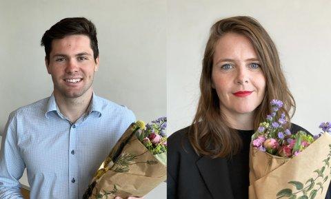 Sivert Wiig og Kristin Auestad Danielsen får stipend.